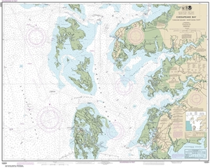 Picture of 12231 - Chesapeake Bay - Tangier Sound - Northern Part Nautical Chart