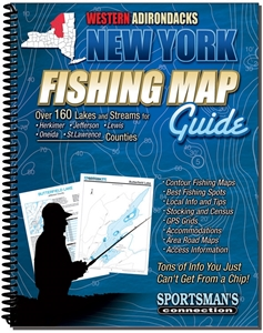 Picture of Western Adirondacks New York Fishing Map Guide