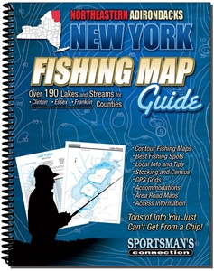 Picture of Northeastern Adirondacks New York Fishing Map Guide