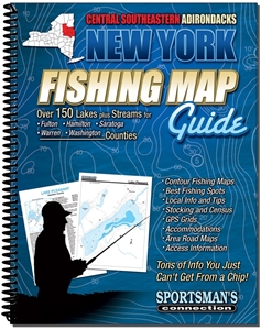 Picture of Central Southeastern Adirondacks New York Fishing Map Guide