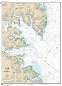 Picture of 12238 - Chesapeake Bay - Mobjack Bay And York River Entrance Nautical Chart