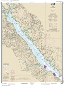 Picture of 12243 - York River - Yorktown To West Point Nautical Chart
