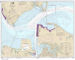 Picture of 12245 - Hampton Roads Nautical Chart