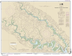 Picture of 12244 - Pamunkey And Mattaponi Rivers Nautical Chart