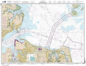 Picture of 12222 - Chesapeake Bay - Cape Charles To Norfolk Harbor Nautical Chart