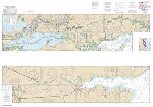 Picture of 12206 - Intracoastal Waterway - Norfolk To Albemarle Sound Via North Landing River or Great Dismal Swamp Canal Nautical Chart