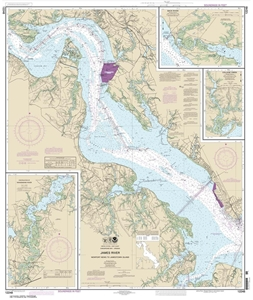 Picture of 12248 - James River - Newport News To Jamestown Island Nautical Chart