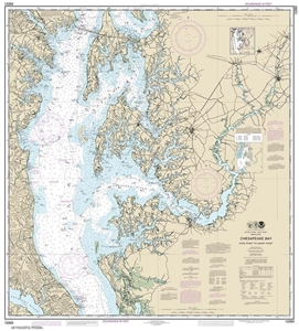 Picture of 12263 - Chesapeake Bay - Cove Point To Sandy Point Nautical Chart