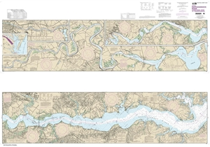 Picture of 12237 - Rappahannock River - Corrotoman River To Fredericksburg Nautical Chart