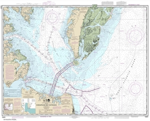 Picture of 12221 - Chesapeake Bay Entrance Nautical Chart