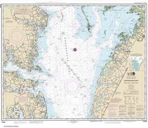 Picture of 12225 - Chesapeake Bay - Wolf Trap To Smith Point Nautical Chart