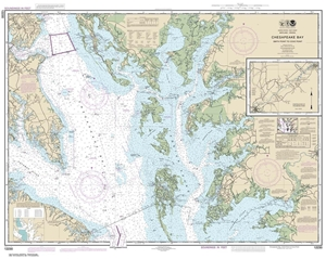 Picture of 12230 - Chesapeake Bay - Smith Point To Cove Point Nautical Chart
