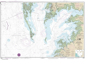 Picture of 12228 - Chesapeake Bay - Pocomoke And Tangier Sounds Nautical Chart