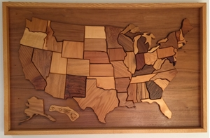 Wood United States Map.Themapstore Wooden United States