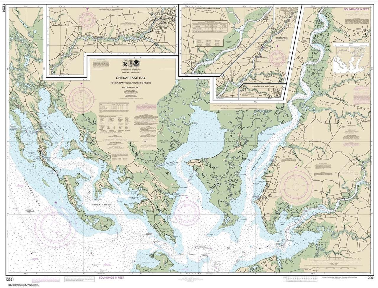 Themapstore noaa chart 12261 chesapeake bay virginia for Chesapeake bay fishing map
