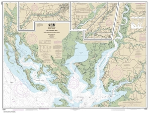Picture of 12261 - Chesapeake Bay - Honga, Nanticoke, Wicomico Rivers And Fishing Bay Nautical Chart
