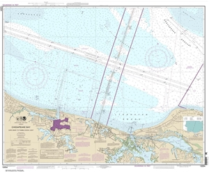 Picture of 12254 - Chesapeake Bay - Cape Henry To Thimble Shoal Light Nautical Chart