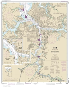 Picture of 12253 - Norfolk Harbor And Elizabeth River Nautical Chart