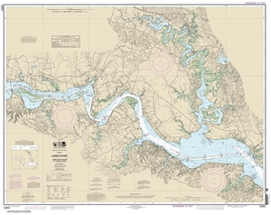 Picture of 12251 - James River - Jamestown Island To Jordan Point Nautical Chart