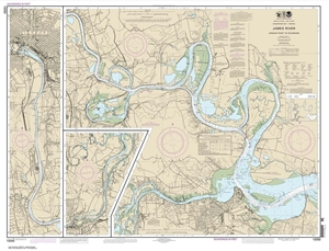 Picture of 12252 - James River - Jordan Point To Richmond Nautical Chart