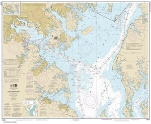 Chesapeake Bay Topographic Map.Themapstore Noaa Chart 12278 Chesapeake Bay Delaware Annapolis