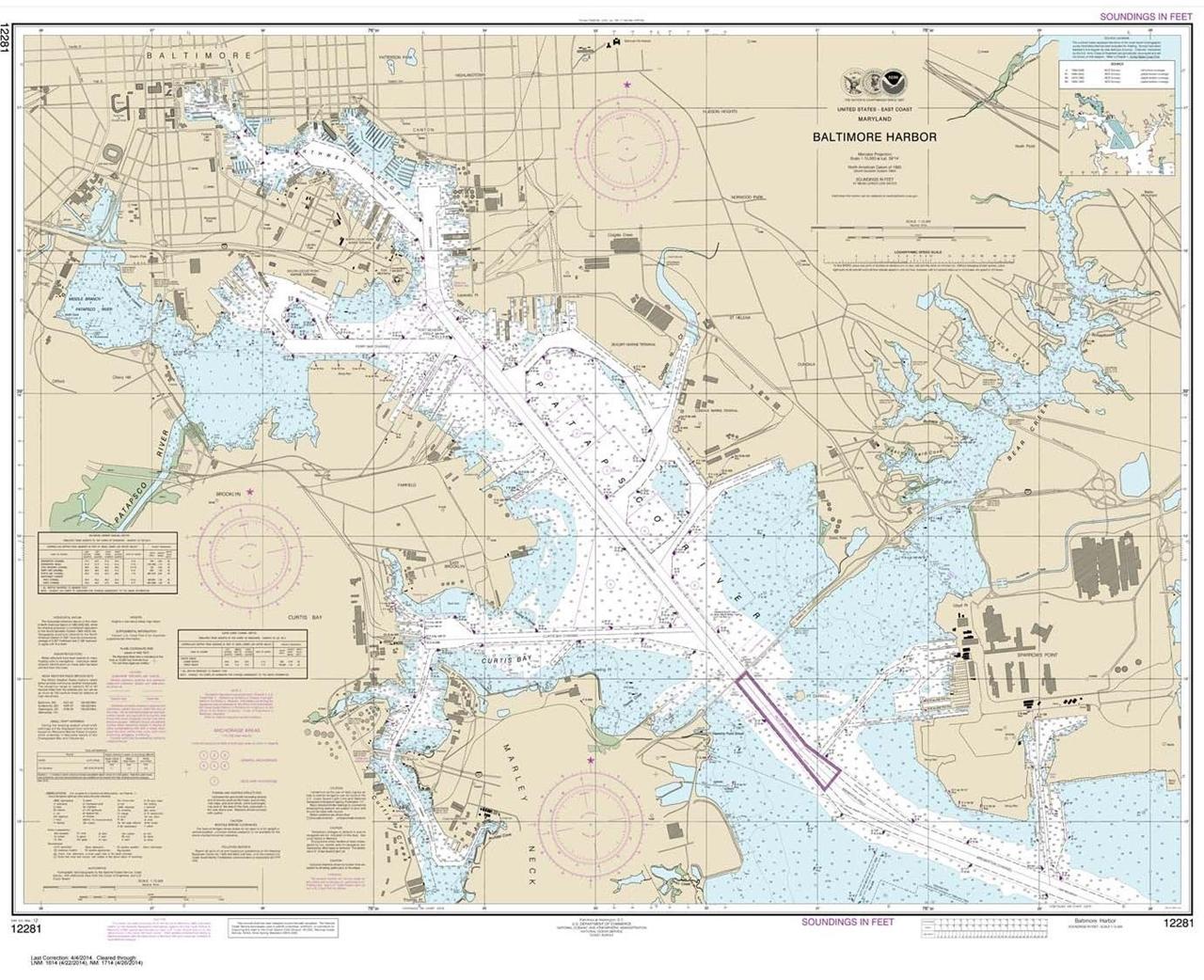 Themapstore Noaa Chart 12281 Chesapeake Bay Delaware