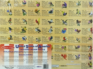 Picture of Melissa & Doug Wooden USA Map Puzzle