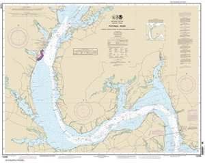 Picture of 12288 - Potomac River - Lower Cedar Point To Mattawoman Creek Nautical Chart