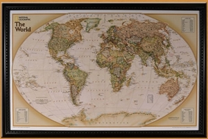 Picture of Lightravels Illuminated World Executive Explorer Wall Map