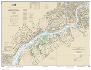 Picture of 12312 - Delaware River - Wilmington To Philadelphia Nautical Chart
