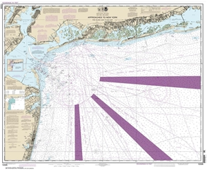 Picture of 12326 - Approaches To New York - Fire Island Light To Sea Girt Nautical Chart