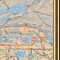 """Picture of Boundary Waters Canoe Area (BWCA) and Quetico Provincial Park Overview Map SIZE 28"""" x 38"""""""