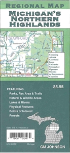 Picture of Northern Highlands Michigan Road Map
