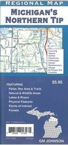 Picture of Northern Tip of Michigan Road Map