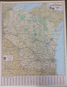 "Picture of Wisconsin Highway Map 17"" x 22"""