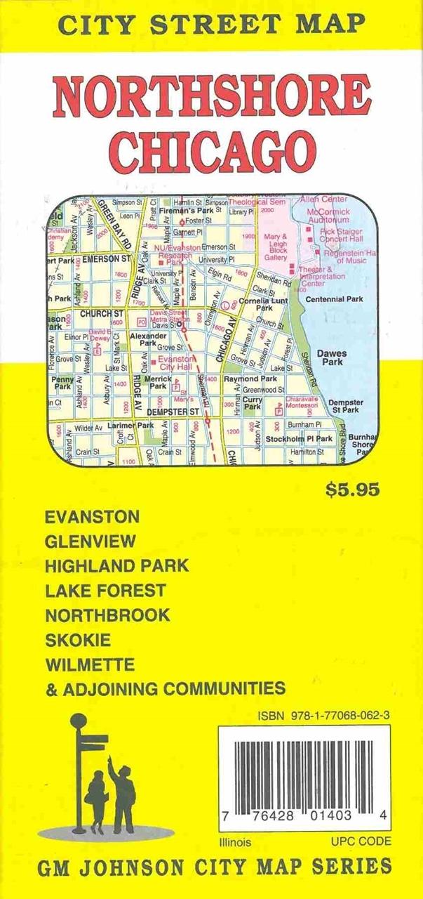 TheMapStore  Northshore Chicago Illinois Street Map