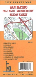Picture of San Mateo, Palo Alto, Redwood City, Silicon Valley, California City Street Map
