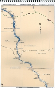 Picture of Upper Mississippi River Navigation Charts Book