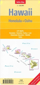 Picture of Nelles Map Hawaii - Honolulu, Oahu