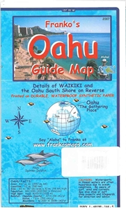 Picture of Franko's Oahu Guide Map