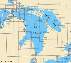 Picture of Click Here For An Easy To Read Lake Huron Nautical Chart Index