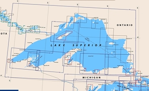 Picture of Click Here For an Easy To Read Lake Superior Nautical Chart Index