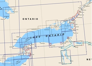 Picture of Click Here For an Easy To Read Lake Ontario Nautical Chart Index