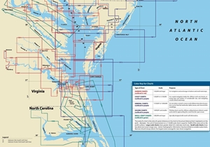 Picture of Click Here For an Easy To Read Cape Hatteras, NC To The Potomac River Nautical Chart Index