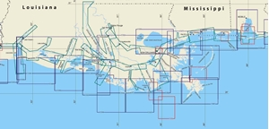 Picture of Click Here For an Easy To Read Mobile, AL To Lake Charles, LA Nautical Chart Index