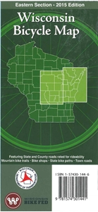 Picture of Wisconsin Bicycle (Biking) Map: Eastern Section - 2015 Edition