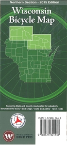 Picture of Wisconsin Bicycle (Biking) Map: Northern Section - 2015 Edition
