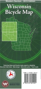 Picture of Wisconsin Bicycle (Biking) Map: Western Section - 2015 Edition