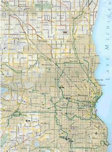 Picture of Wisconsin Bicycle (Biking) Map: Southern Section - 2015 Edition