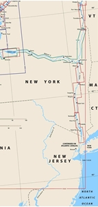 Picture of Click Here For an Easy To Read Hudson River Nautical Chart Index